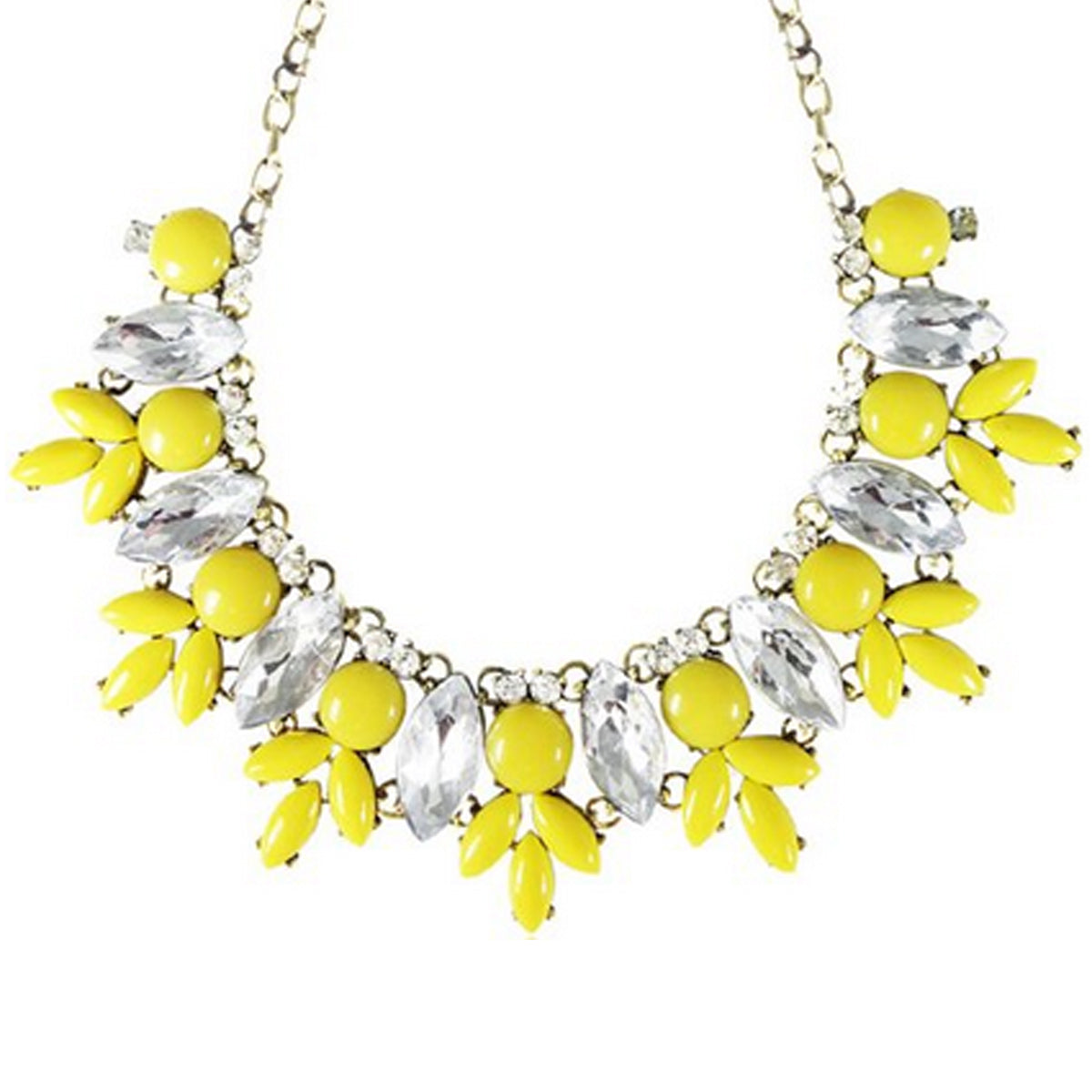 Wrapables Yasmine Petals Statement Necklace Bib Necklace