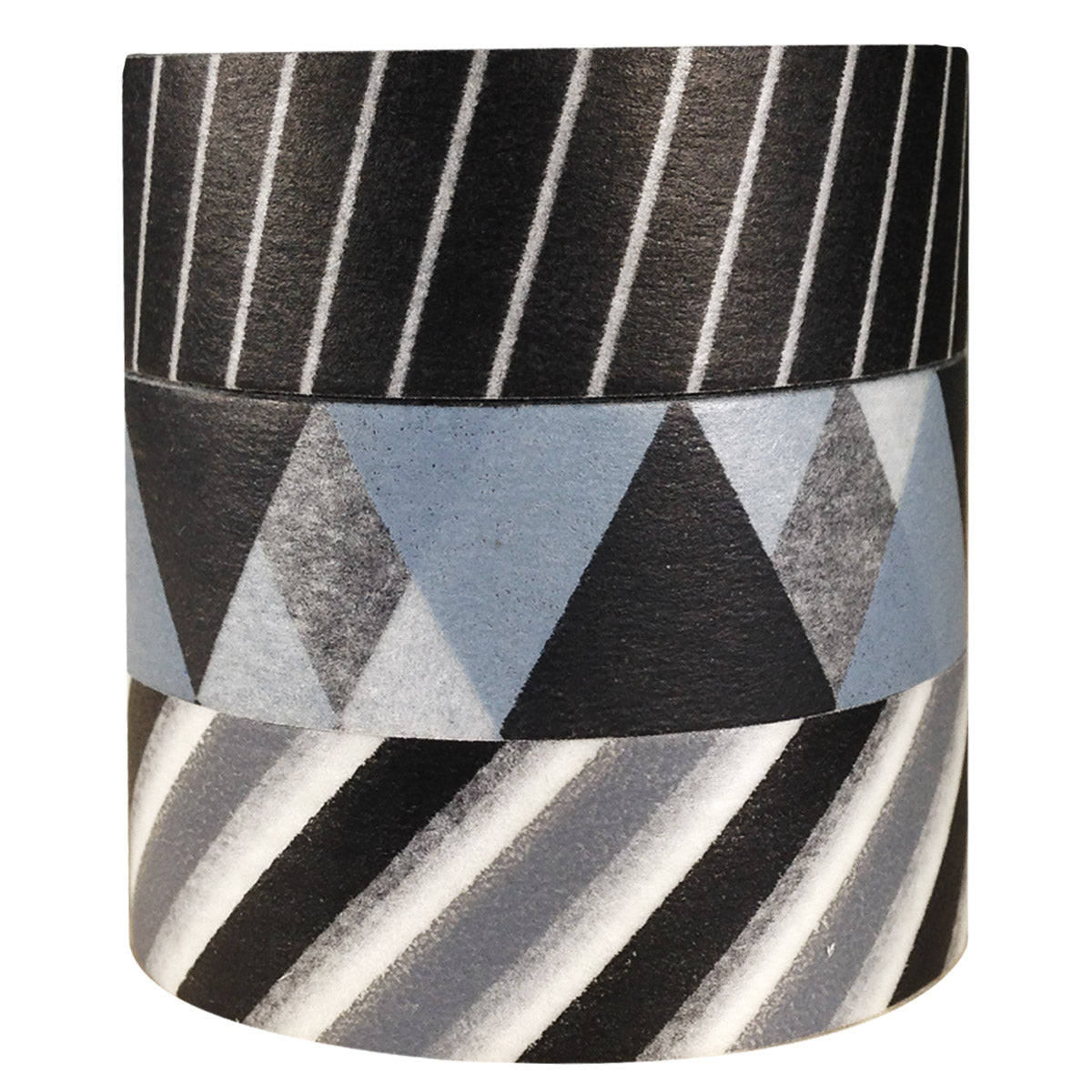 Wrapables Black Tie Japanese Washi Masking Tape (Set of 3)