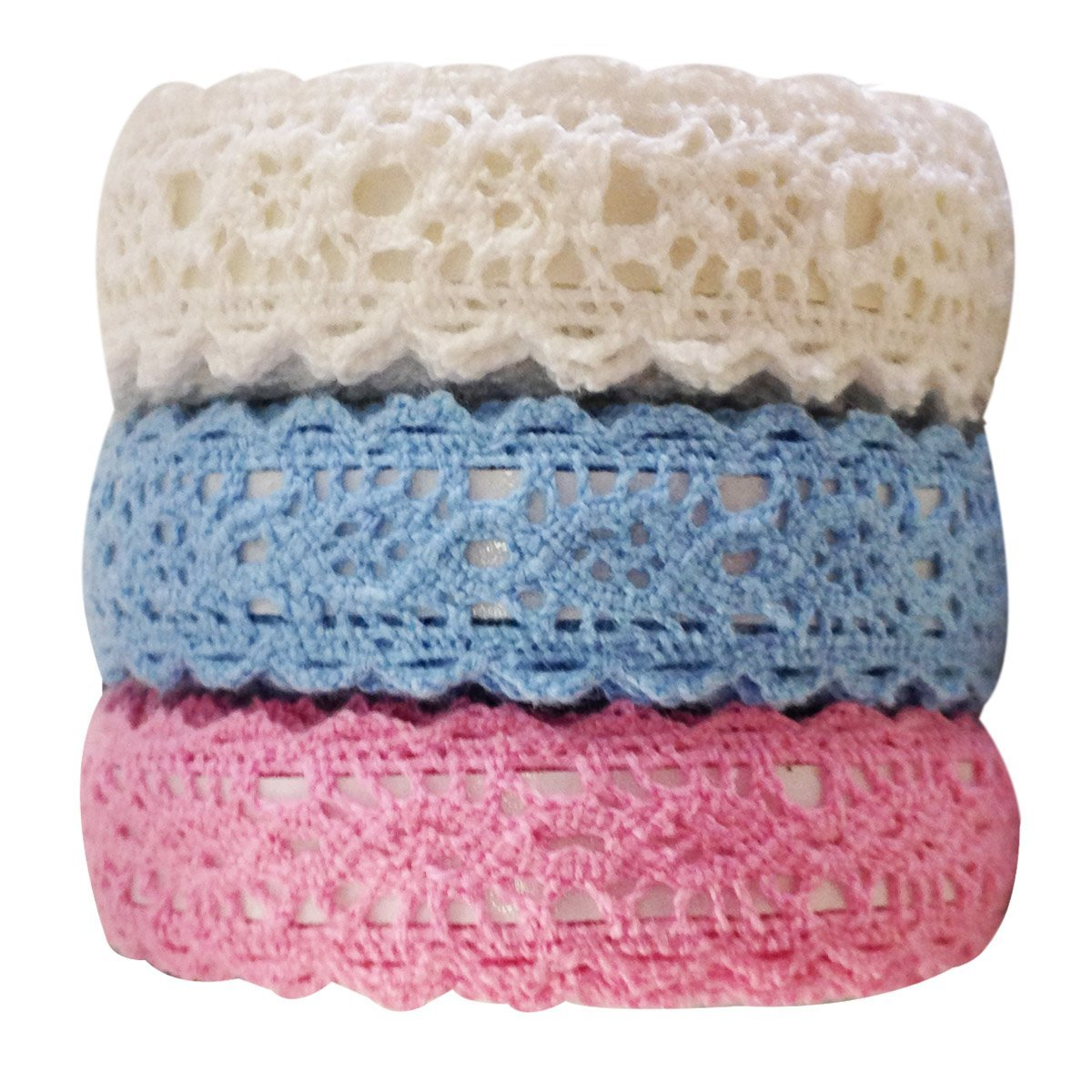 Wrapables Decorative Lace Tape (Set of 3)
