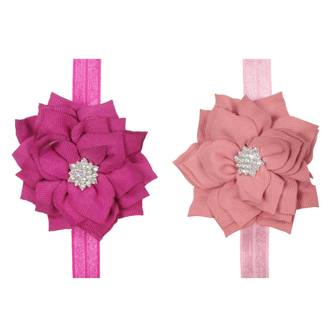 Kella Milla Set of 8 Assorted Starry Flower Shimmer Baby Headbands