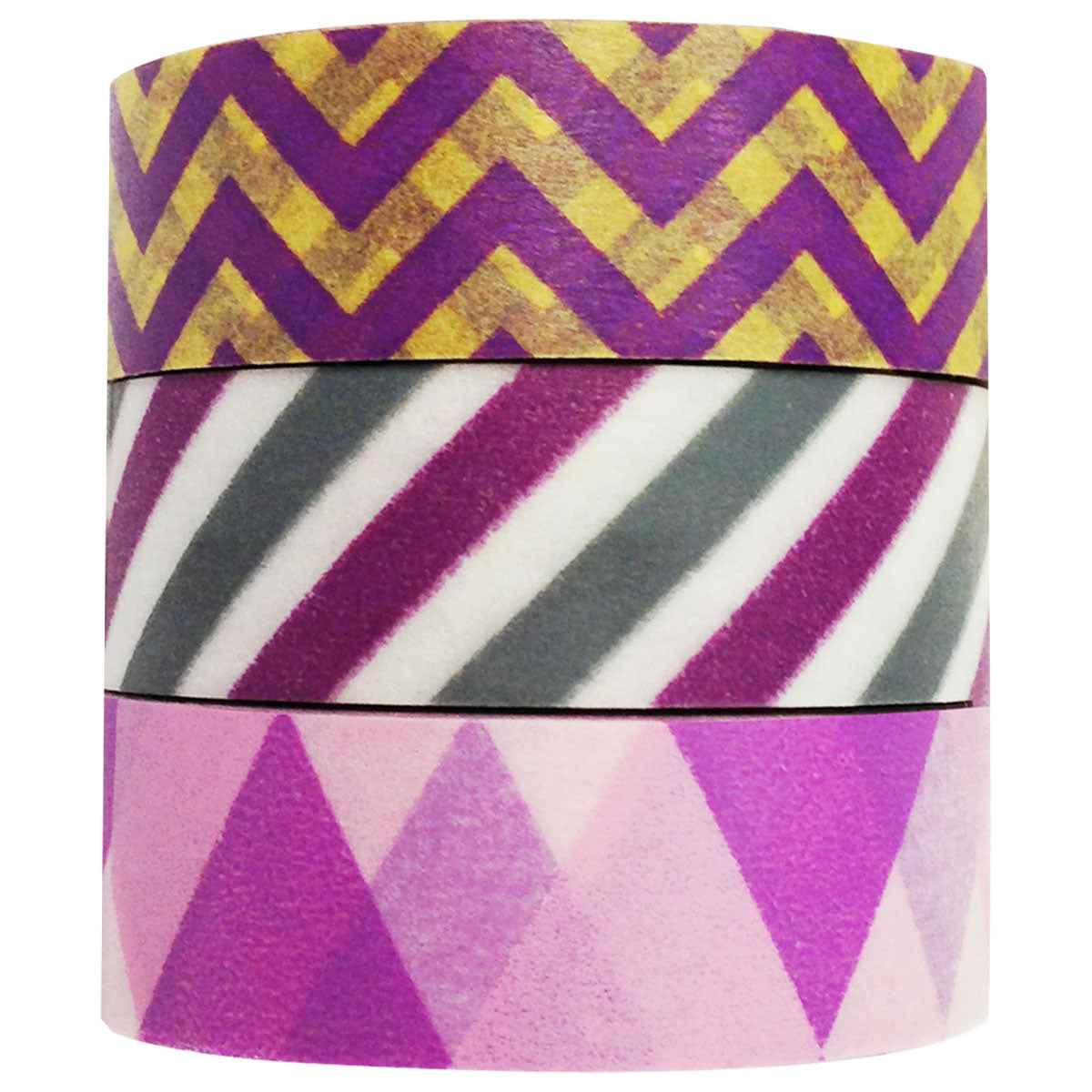 Wrapables Purple Passion Japanese Washi Masking Tape (set of 3)