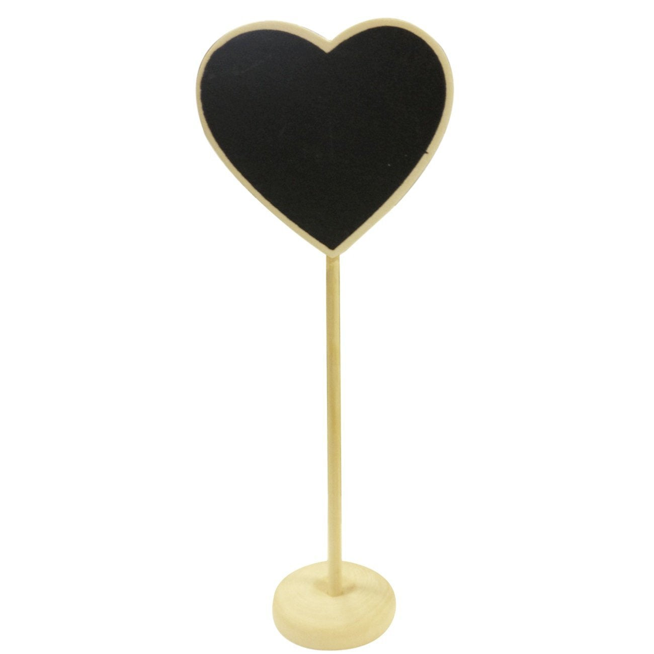 Wrapables Mini Chalkboard Tag with Stand for Wedding and Party Table Markers, Plant Markers, Party Favors (Set of 6), Heart