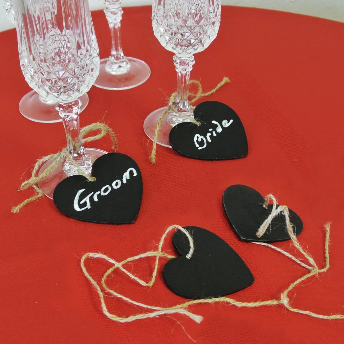 Wrapables Double Sided Mini Chalkboard (set of 6) - Heart
