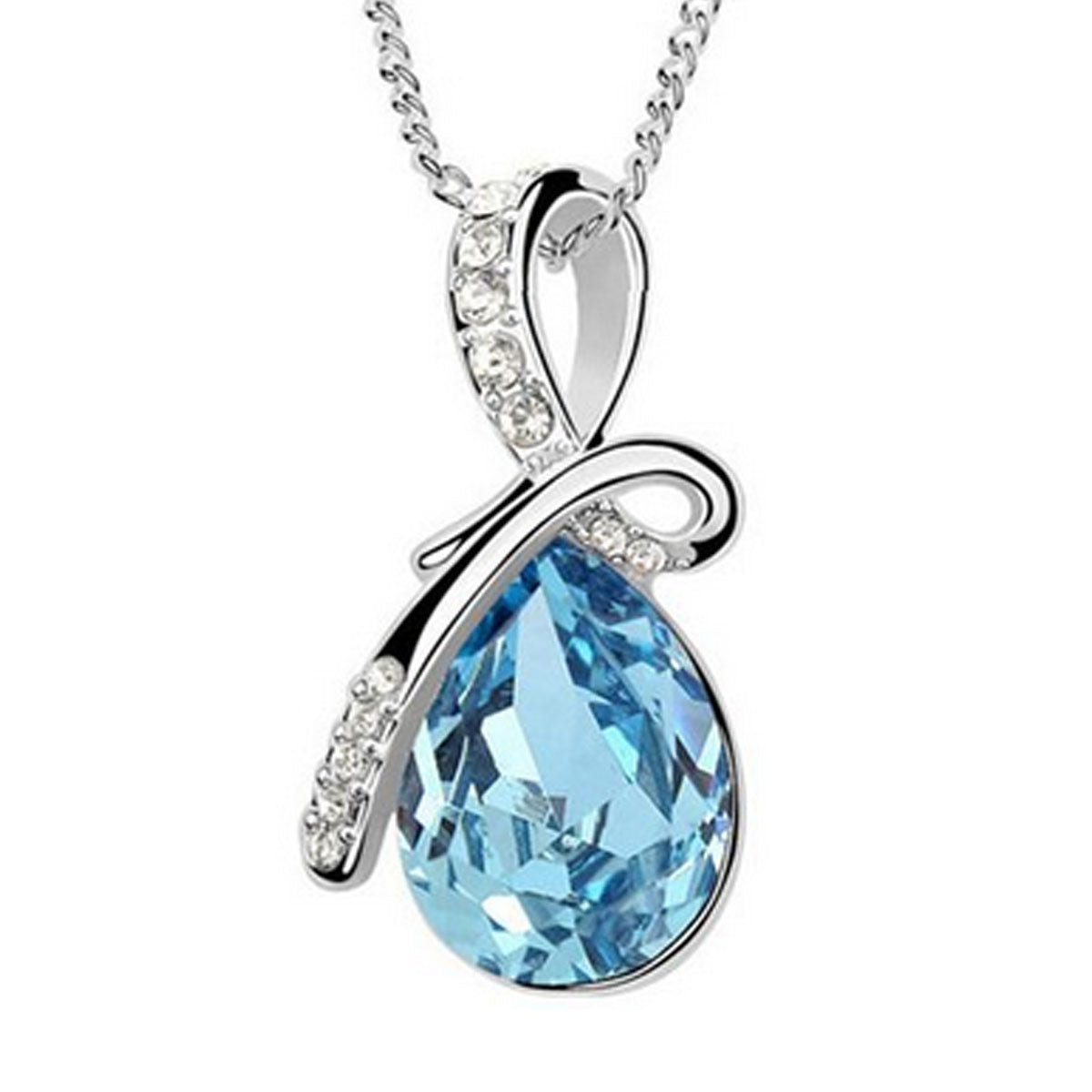Wrapables Eternal Love Swarovski Elements Crystal Teardrop Pendant Necklace