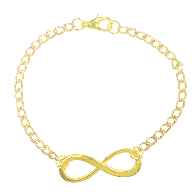 Wrapables Gold Tone Infinity Bracelet