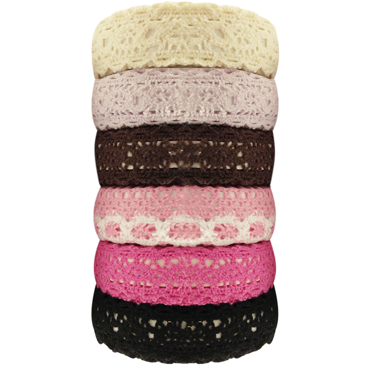 Colorful Decorative Lace Tape Collection (set of 6)