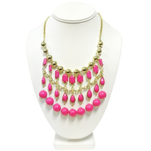 Wrapables Bubble Beaded Curtain Statement Necklace