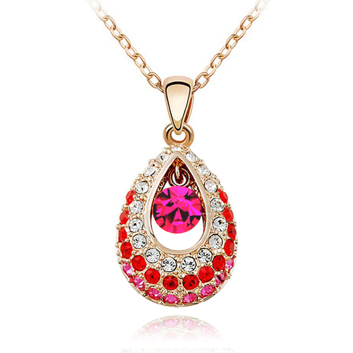 Wrapables Swarovski Elements Angel Teardrop Pendant Necklace