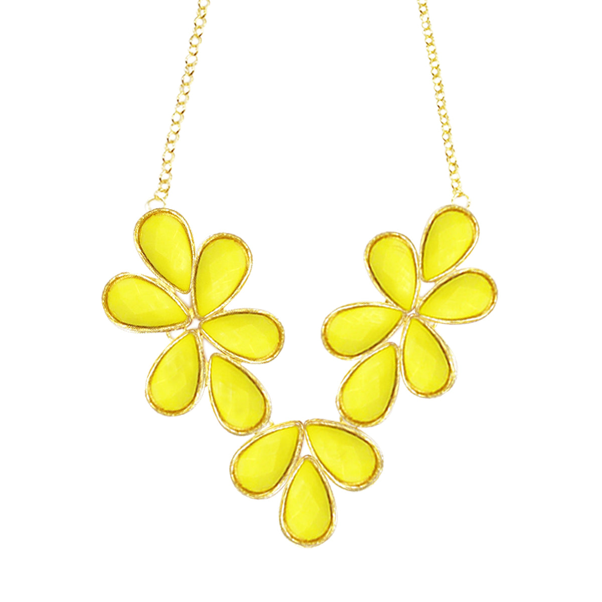 Wrapables Floral Drops Bubble Bib Statement Necklace