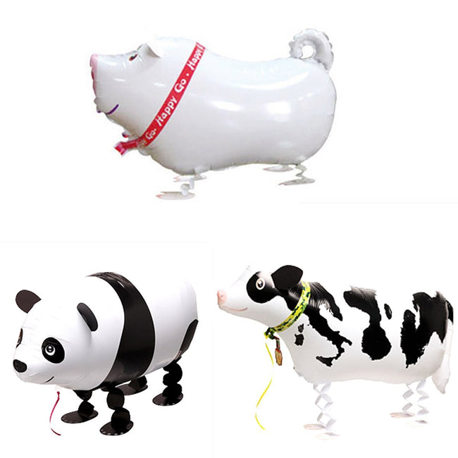 Wrapables Walking Animal Pet Balloons, Set of 3