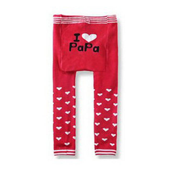 Wrapables Baby and Toddler Leggings, I Heart Papa Pink, 6-12 Months