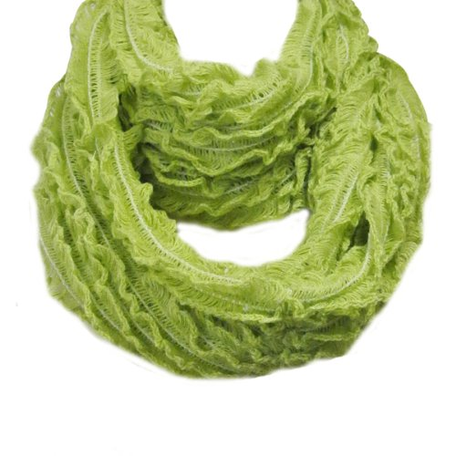 Layered Crochet Infinity Scarf