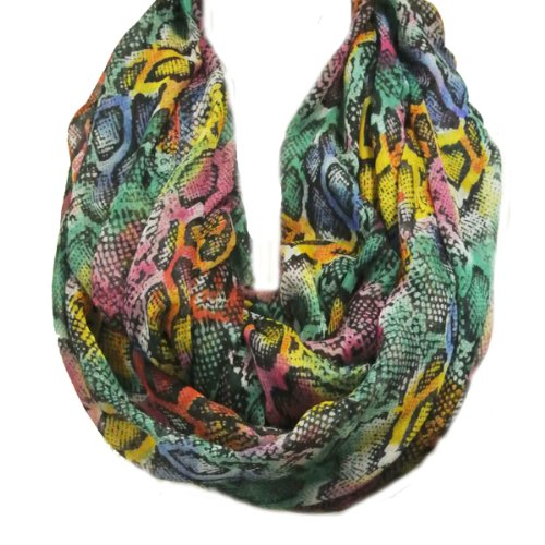 Voile Print Infinity Scarf