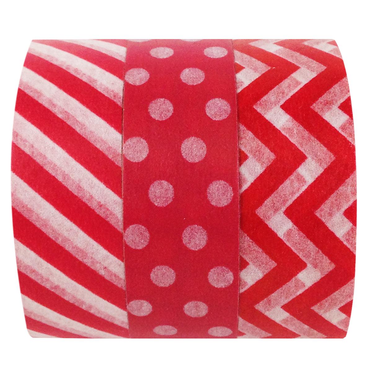 Wrapables Ravishing Red Japanese Washi Masking Tape (set of 3)