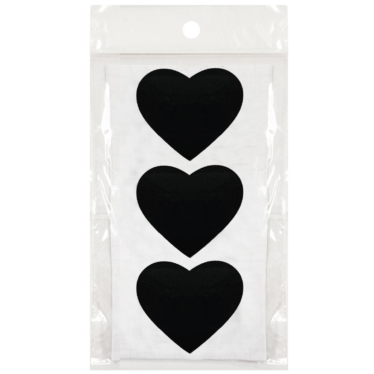"Set of 8 Chalkboard Stands with Chalkboard Stickers and Chalk Marker, 3"" x 2.25"" Heart"