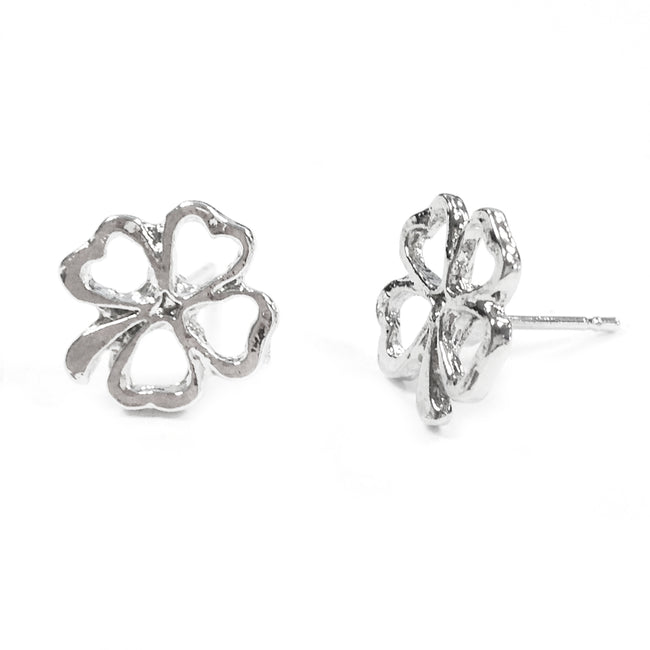 Wrapables Four Leaf Clover Stud Earring
