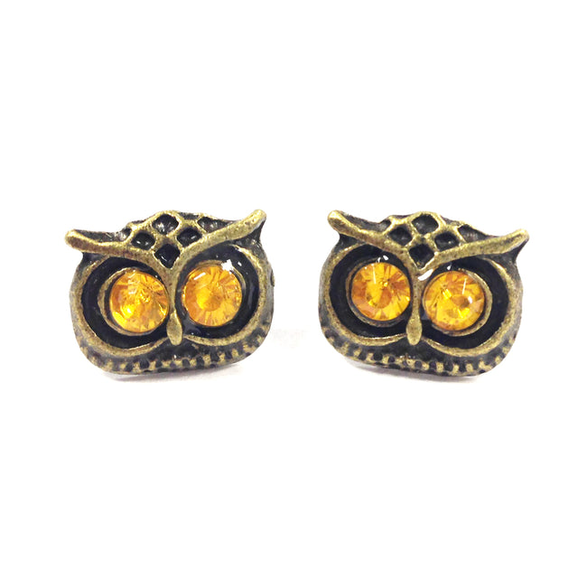 Wrapables Vintage Owl Stud Earring