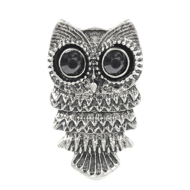 Wrapables Adjustable Tibetan Night Owl Ring, Gold Tone