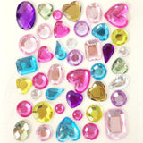 Wrapables Acrylic Self Adhesive Crystal Gem Stickers, Multi-Color (2pk)
