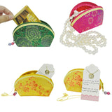 Wrapables Silk Embroidered Brocade Gift Jewelry Coin Pouch Purse (Set of 4)