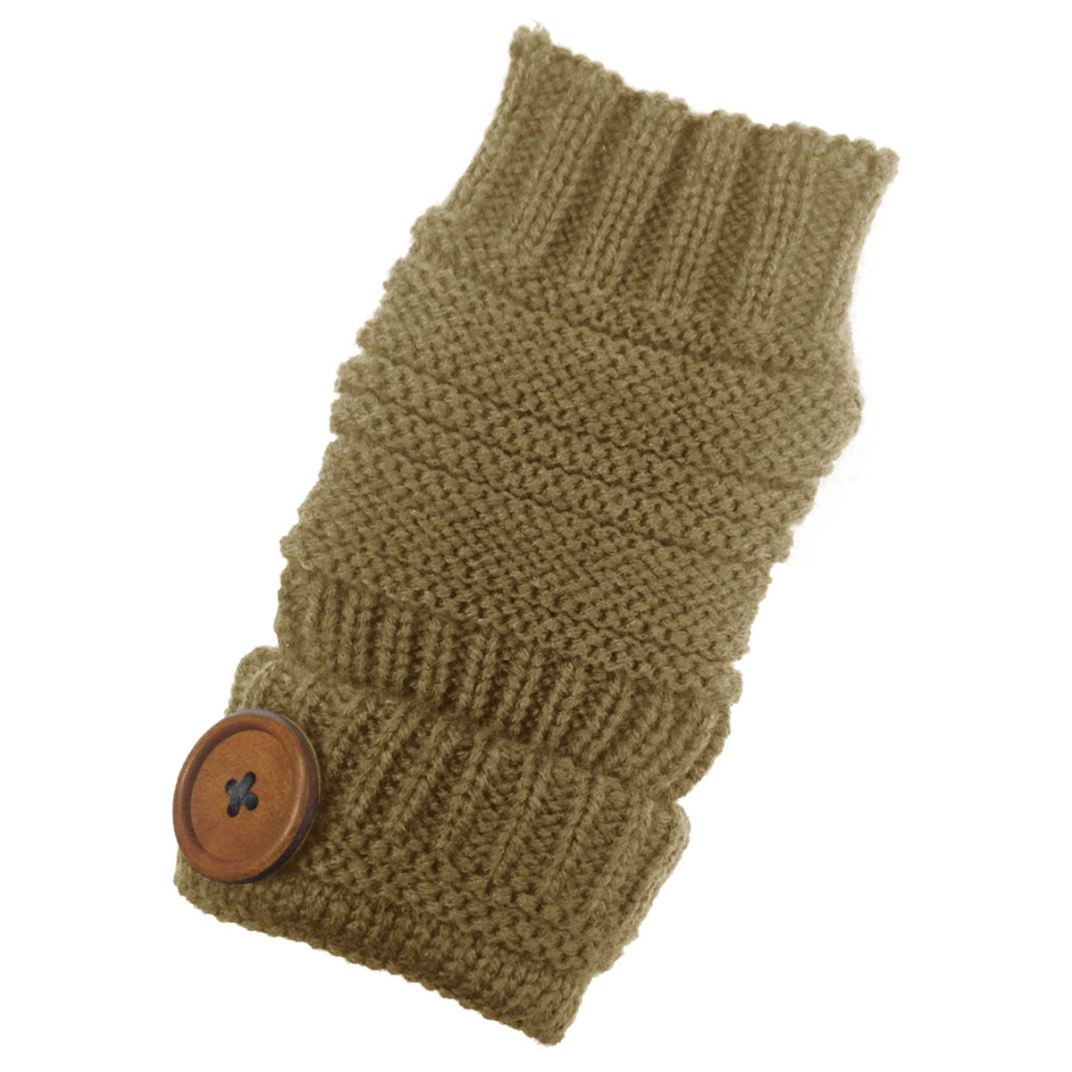 Wrapables Fingerless Gloves with Button Accent