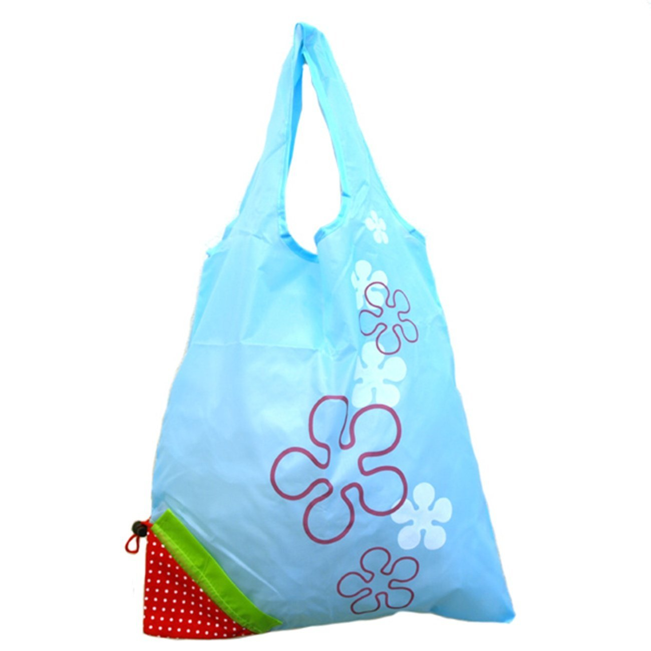 Reusable Shopping Tote Bag that Folds into a Strawberry