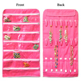 28 Zippered Pockets Hanging Jewelry Organizer with 21 Holding Loops