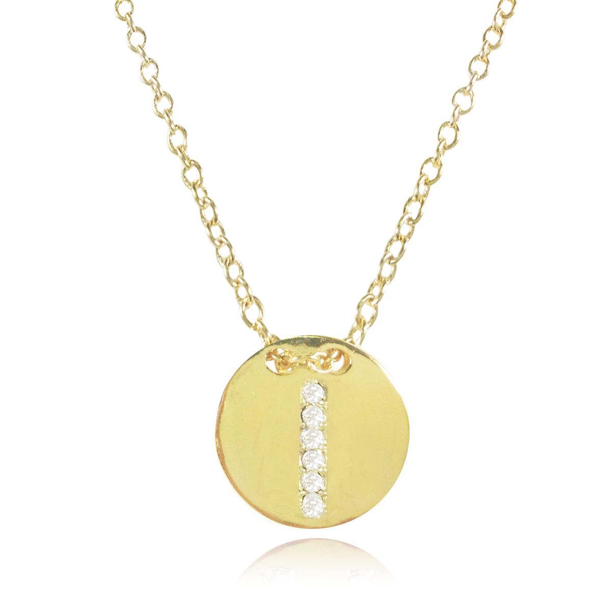 Gold Plated Initial Letter Pendant Necklace