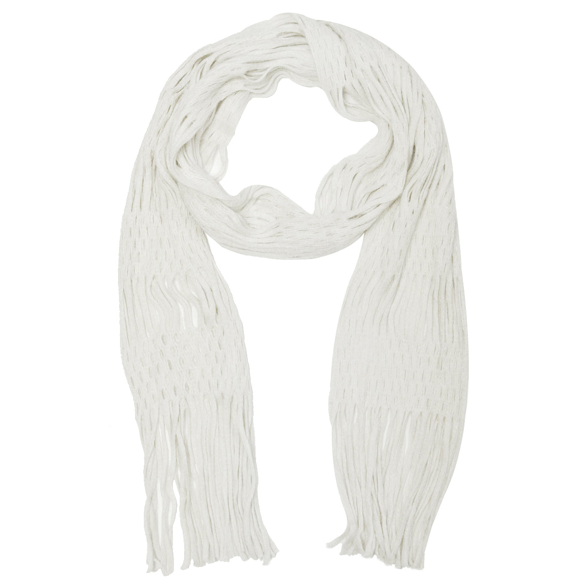 Wrapables Warm Long Scarf with Tassels