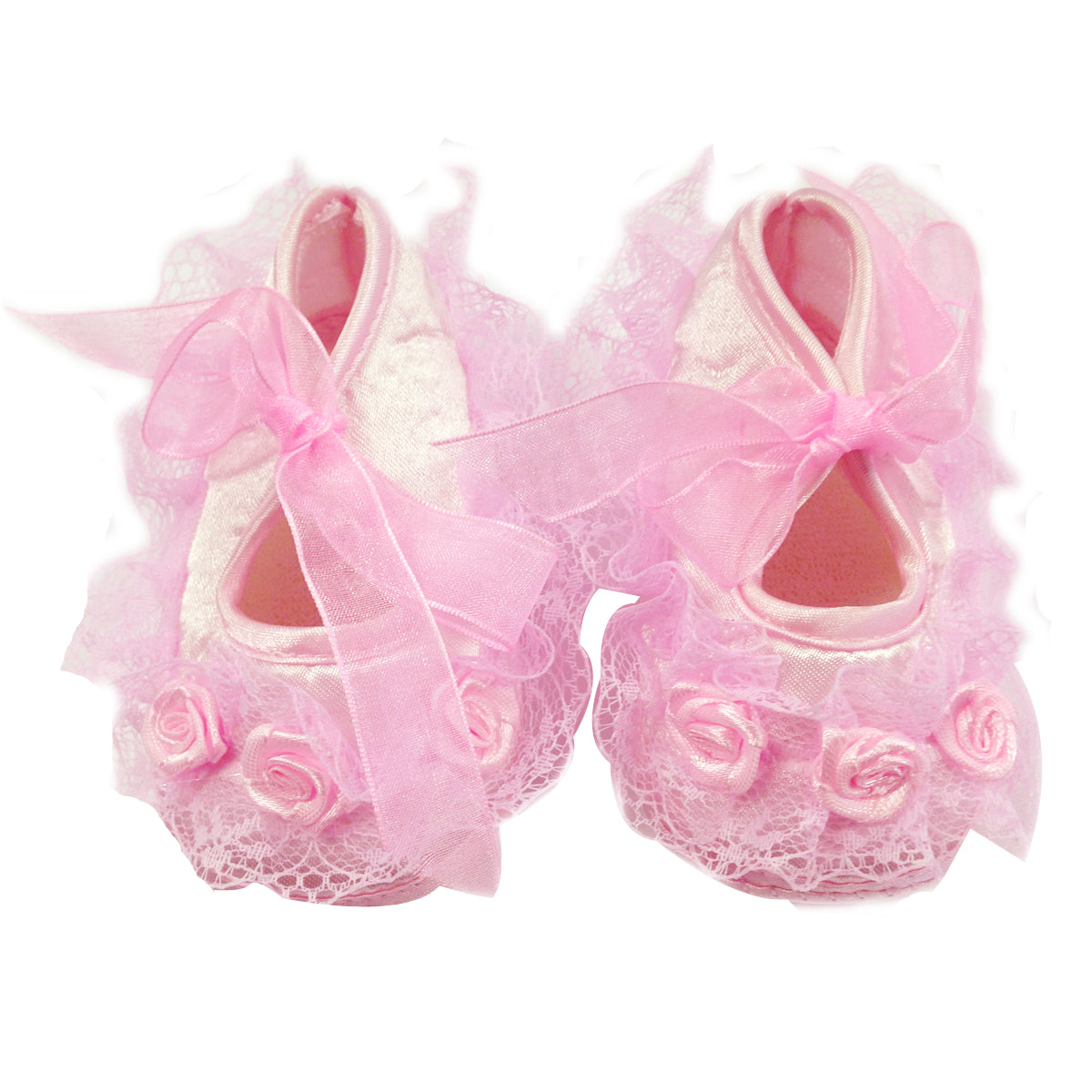 Wrapables Floral and Lace Princess Shoes and Headband Set