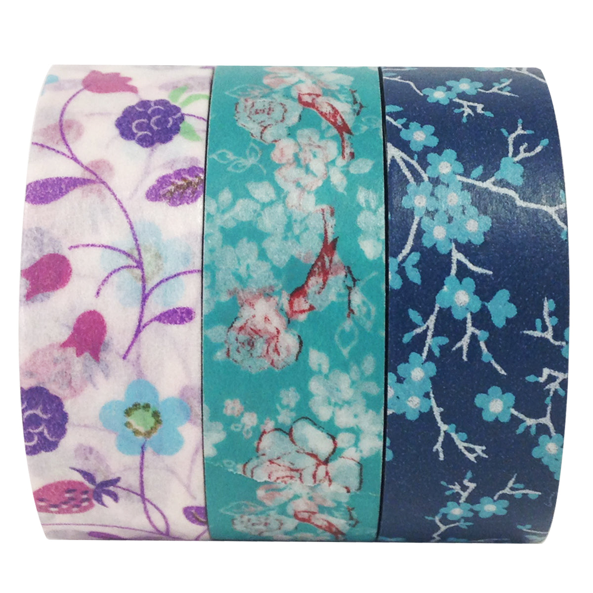 Wrapables Sweet Dusk Japanese Washi Masking Tape (set of 3)
