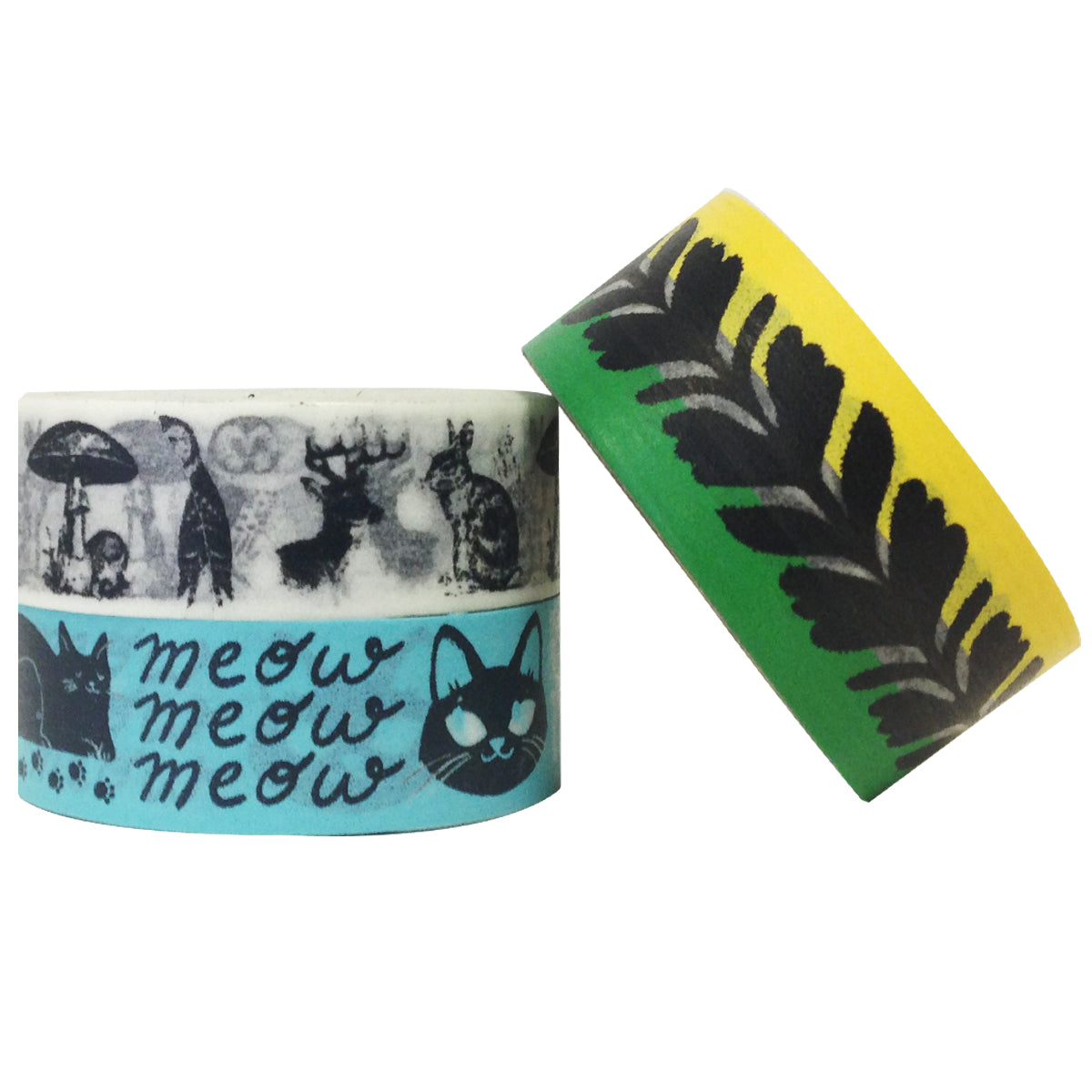 Wrapables Animal Lovers Japanese Washi Masking Tape (Set of 3)