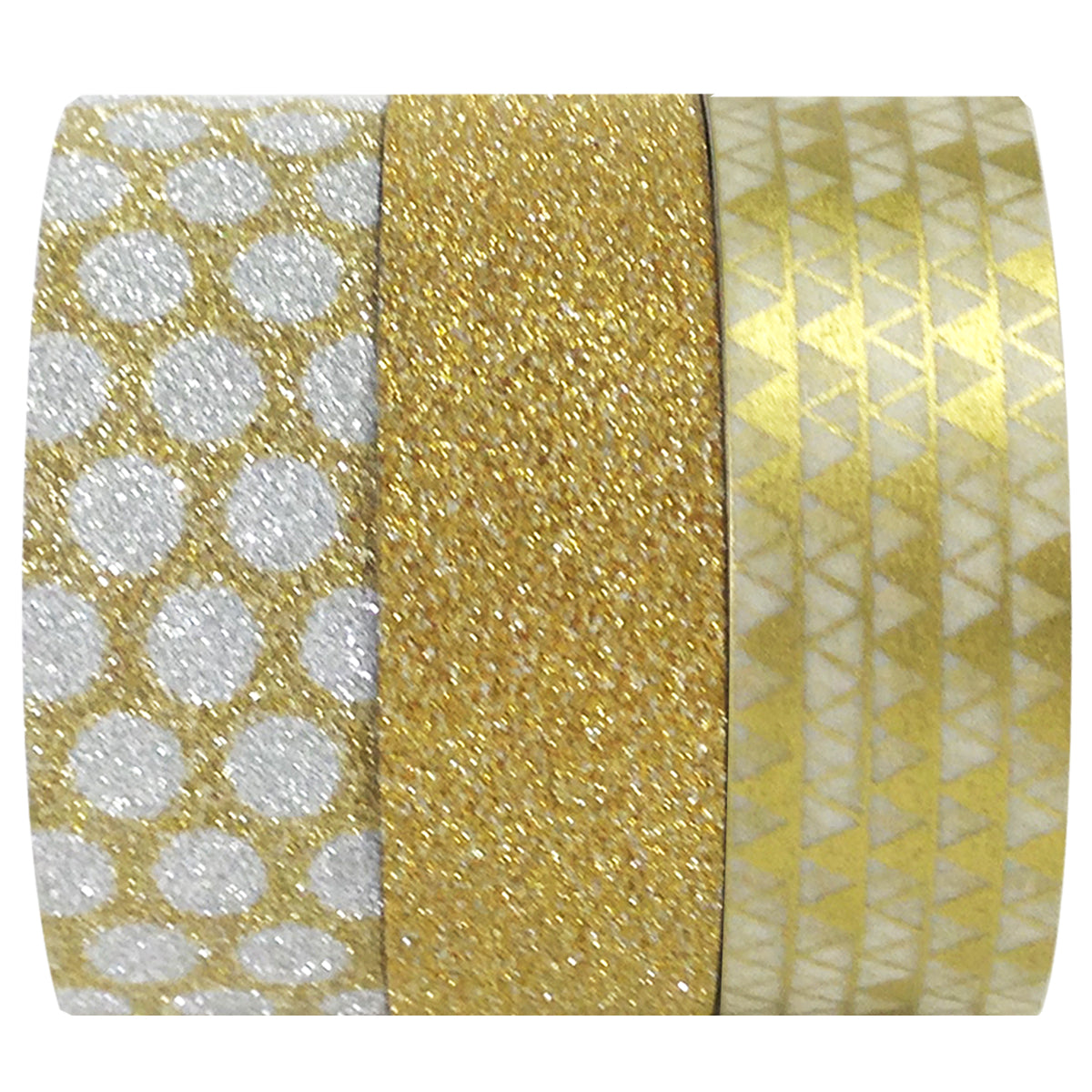 Wrapables Gold Treasure Japanese Washi Masking Tape (Set of 3)