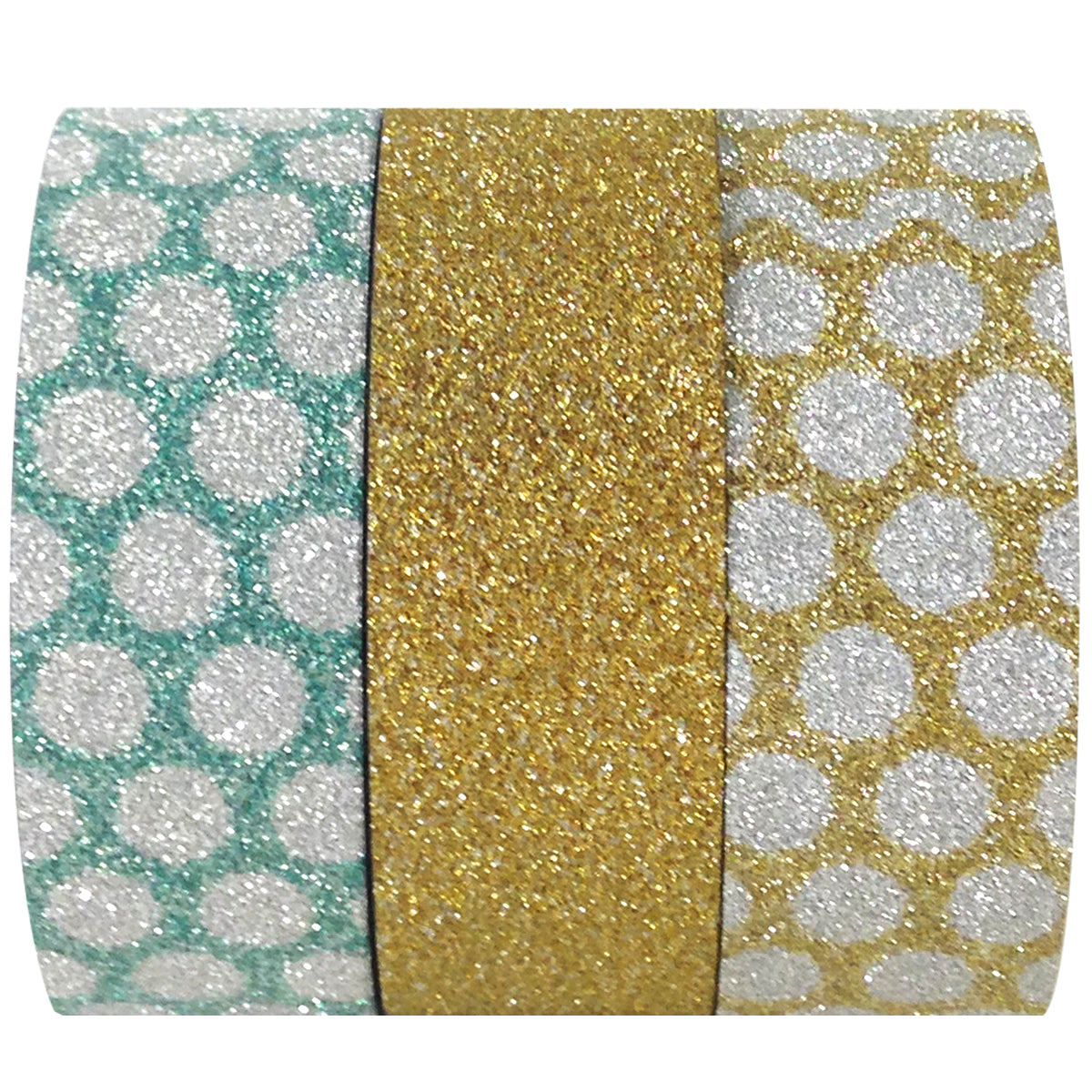 Wrapables Bright Dots Japanese Washi Masking Tape (Set of 3)