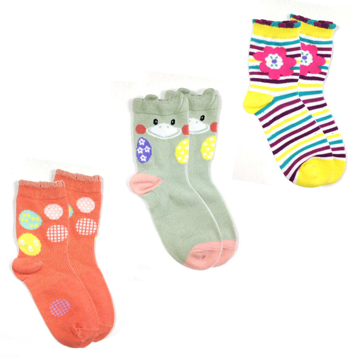 Wrapables Animal Toddler Socks Set of 3