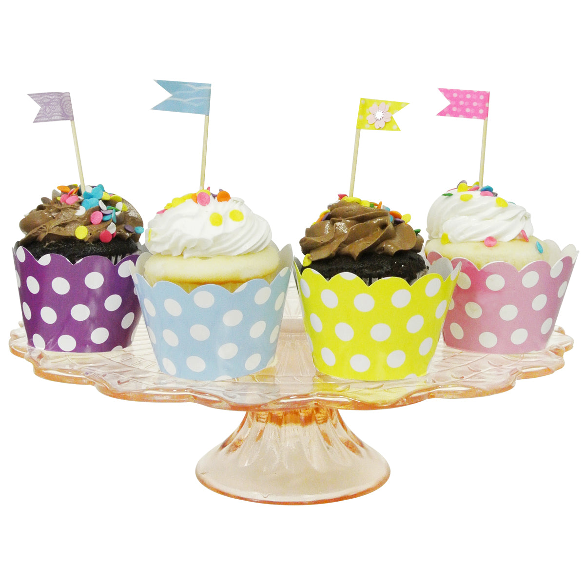 Wrapables Standard Size Polka Dots Cupcake Wrappers (Set of 20)