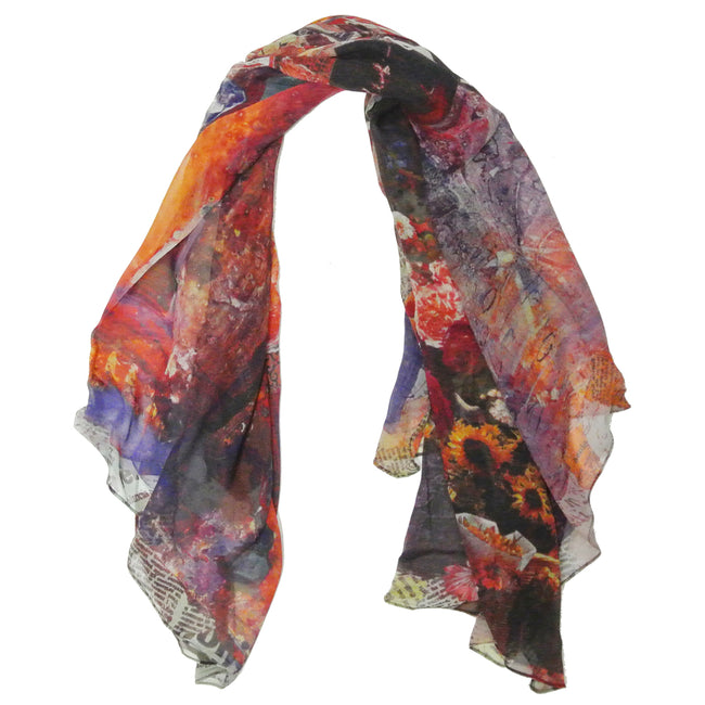 Wrapables 100% Mulberry Silk Square Scarf