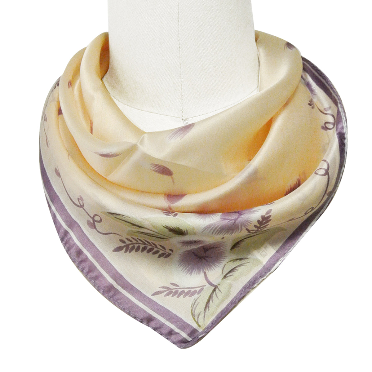 100% Silk Neckerchief Square Scarf