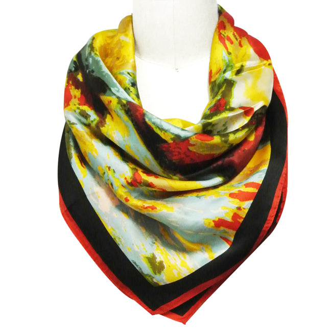 Wrapables Luxurious 100% Charmeuse Silk Square Scarf
