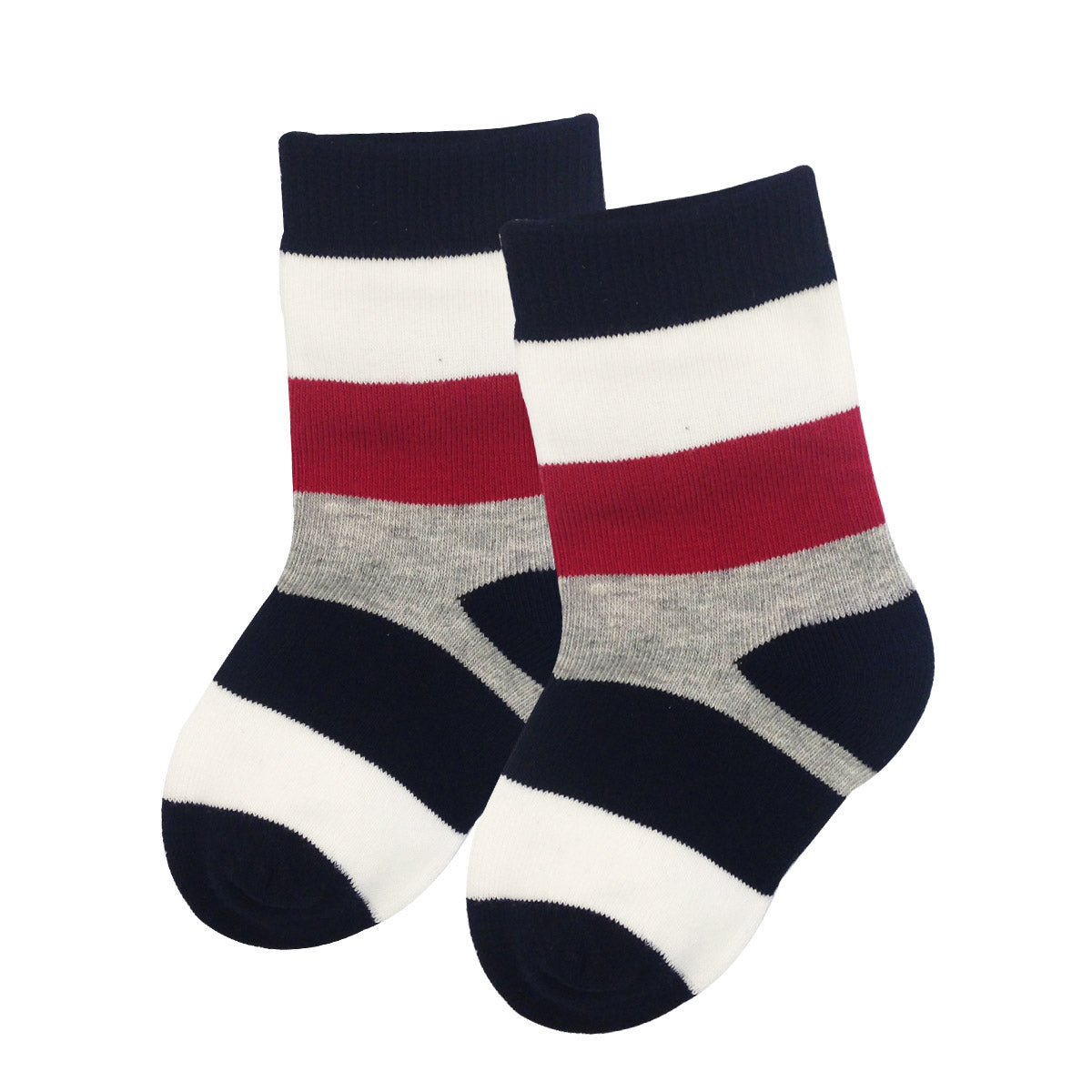 Wrapables Cars and Stripes Toddler Socks (Set of 5)