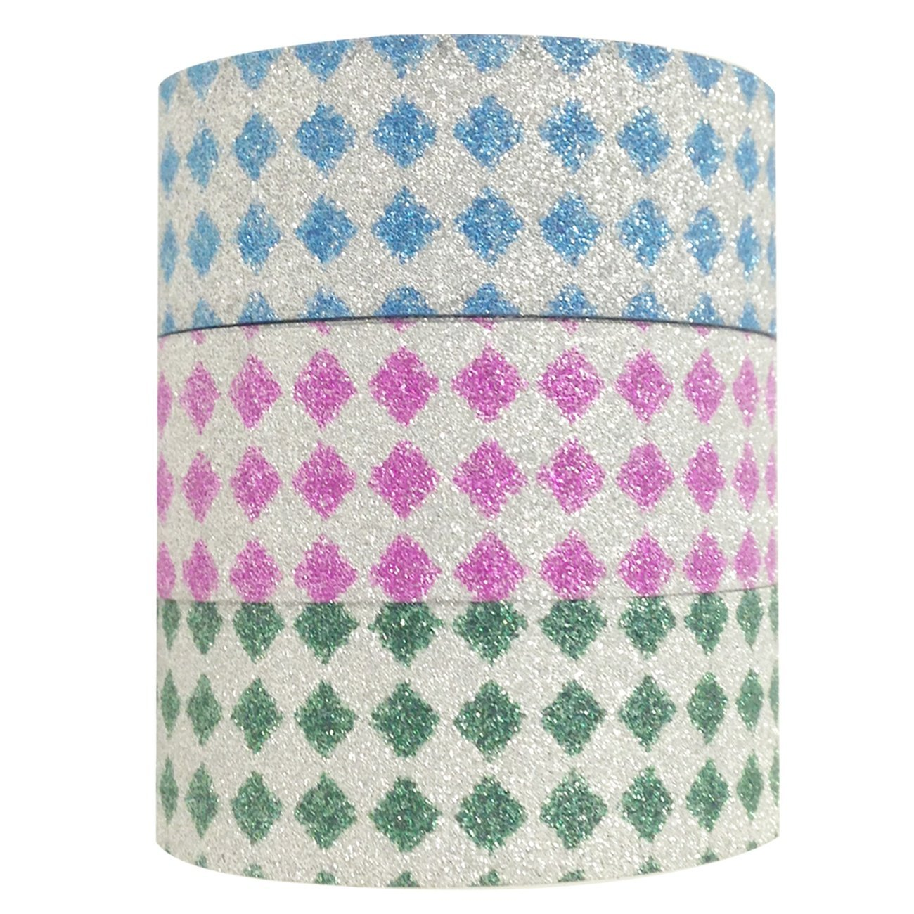 Wrapables Bright Diamonds Japanese Washi Masking Tape (Set of 3)