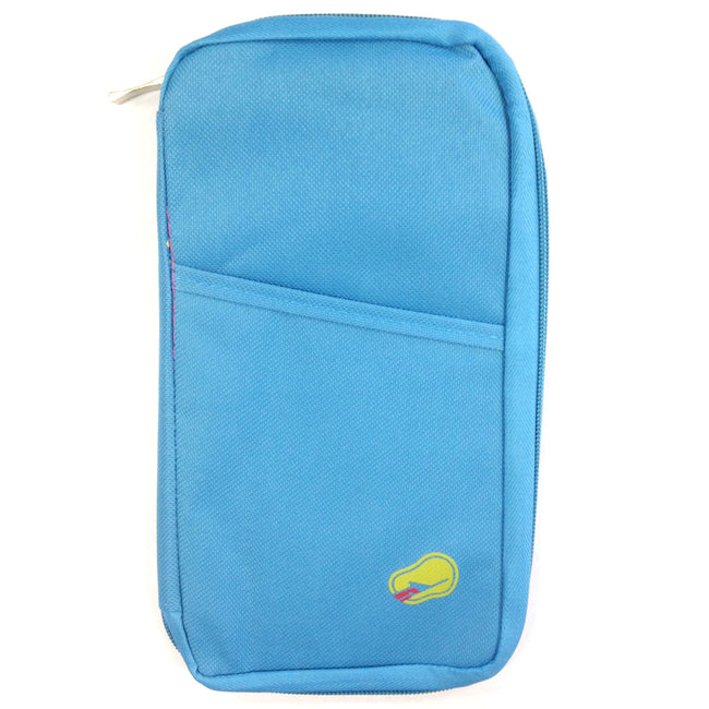 Wrapables Passport and Travel Documents Holder, Sky Blue
