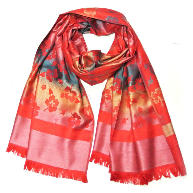 Wrapables Jacquard Woven Floral Clover Scarf Wrap