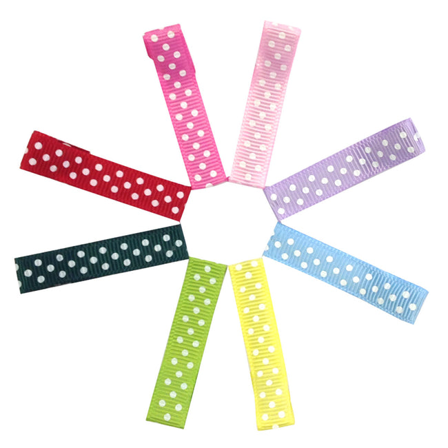 Wrapables Girls Ribbon Lined Alligator Clips (Set of 8)