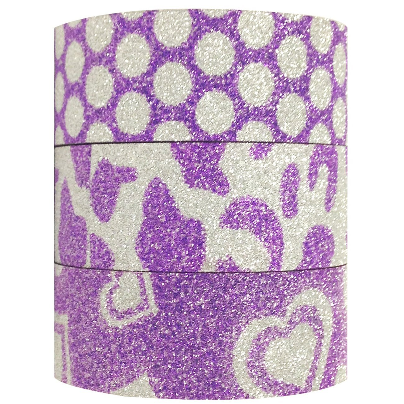 Wrapables Purple Power Japanese Washi Masking Tape (set of 3)