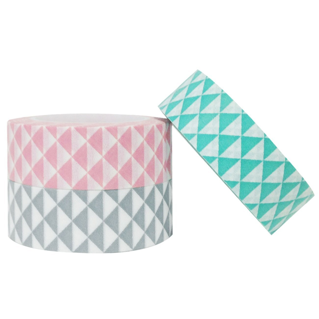 Wrapables Vector Triangles Japanese Washi Masking Tape (set of 3)