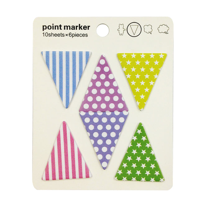 Wrapables Groovy Triangles Sticky Notes