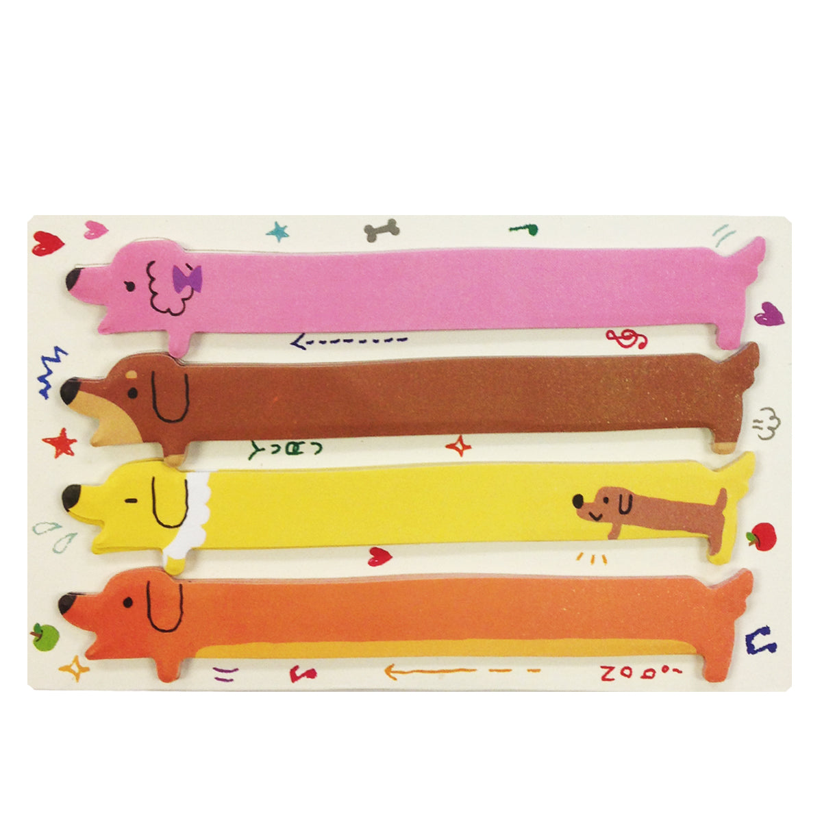 Wrapables Hot Dog Bookmark Flag Index Tab Sticky Notes