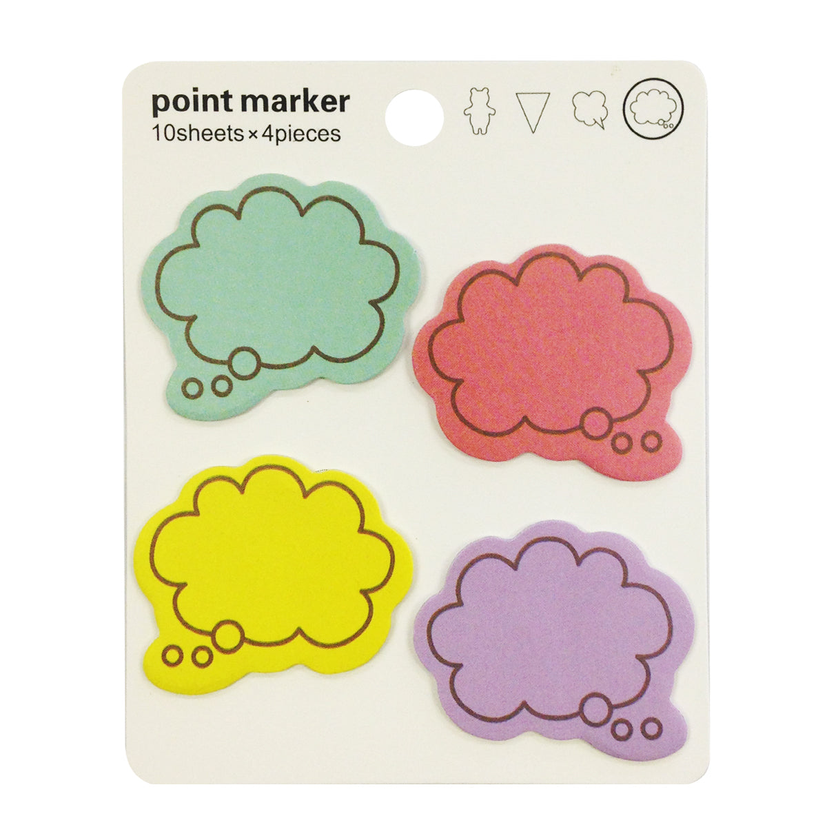 Wrapables Colorful Thinking Bubble Sticky Notes