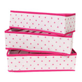Foldable Storage Box Closet Organizer for Bras Underwear and Socks (Set of 3)